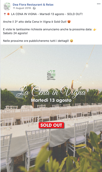 Cena In Vigna - Sold Out 2019_2